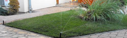 Szép kert és az öntözőrendszer